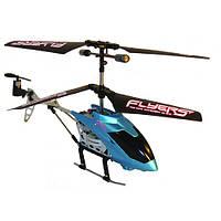 Вертолет PaulG на ИК управлении с пультом перчаткой FALCON синий 3 канальный 20 см с гироскопом