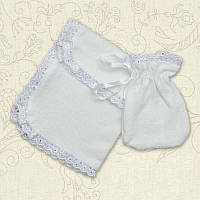 Набор Таїнство Хрещення мешочек,салфетка Махра цвет белый, молочный Бетис