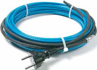 Саморег. нагревательный кабель, с холодным концом с вилкой DEVIpipeheat10 8м 80Вт