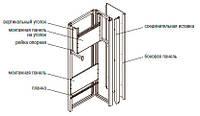 Монтажная панель 300х690 (оцинк), на уголки для КСРМ(2 шт)