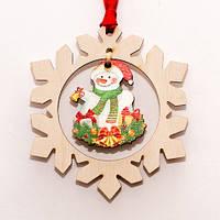 Сніговик / Сніжинка / Дерево / Прикрасу на ялинку 7x7 см
