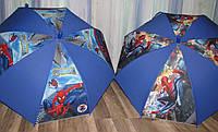 Детский зонт-трость Человек-Паук Синий из поливинила