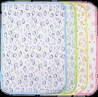 Детская непромокаемая многоразовая пеленка  50х70 см подлежит стирке 1797 Цвета на выбор