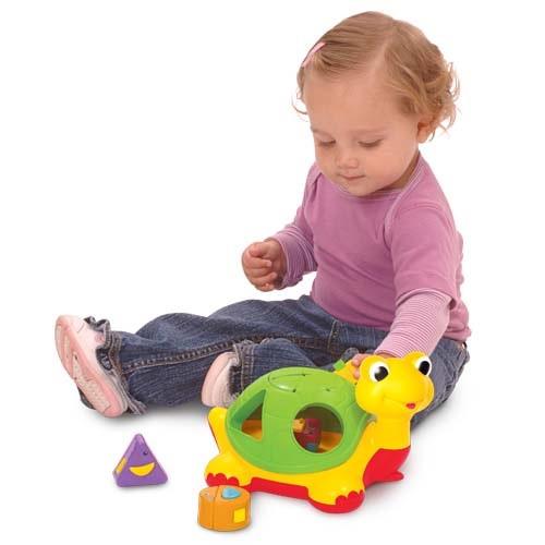 """Развивающие и обучающие игрушки «Kiddieland» (053470) каталка-сортер """"Черепаха-знайка""""  (звук. эффекты, укр."""
