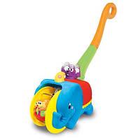 """Развивающие и обучающие игрушки «Kiddieland» (049759) каталка """"Слон-циркач"""" (звук. эффекты)"""