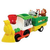 """Развивающие и обучающие игрушки «Kiddieland» (052704) набор """"Паровоз Лимпопо"""" (звук. эффекты)"""