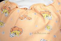 Теплые ползункидля новорожденного размер 56 Карапуз  Габби 8105 р.56 оранжевый мишки в облаках солнышки