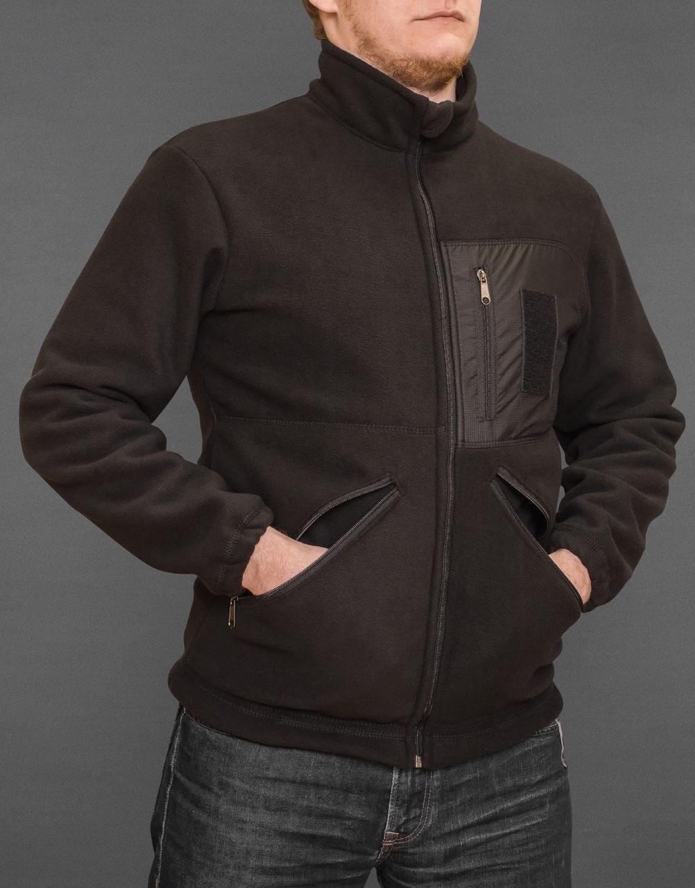Куртка флисовая Велсофт (черная)