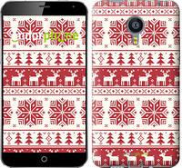 """Чехол на Meizu MX4 новый год и красные олени """"1487u-131"""""""