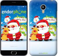 """Чехол на Meizu Pro 5 Счастливого Рождества. Дед Мороз и компания """"212u-108"""""""