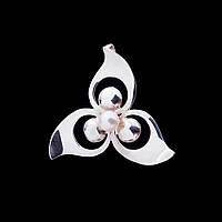 Серебряная подвеска с культ. пресн. жемчугом