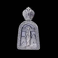 Серебряная подвеска-икона с чернением