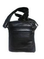 Кожаная мужская сумка ручного пошива, 7 отделений