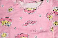 Распашонка с начесом р.62 Рукавичка  Габби 0311 р.62 розовый мишки в облаках солнышки