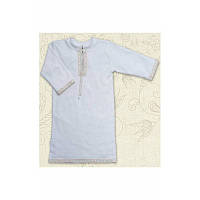 Сорочка крестильная Крістіан д.р. Интерлок Цвет белый, молочный размер 56-68 Бетис