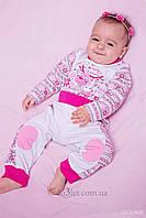 Новогодний комплект для малышки ТМ Зиронька OL204 р.86 белый с розовым рисунком