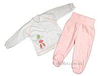 Трикотажный комплект для новорожденной Sweet Mario ID_00_20 р.68 розовый молочная кофта