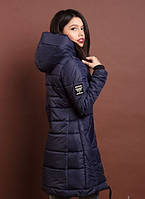 Зимняя женская молодежная куртка, синий. Размеры  S, M, L, XL