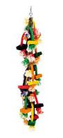 Игрушка Fop 61000370 для попугаев деревянная цветная 61 см