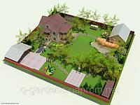 Дизайн территории вокруг дома