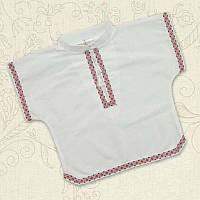 Сорочка Українська-2 Миткаль Цвет белый/голубой, белый/красный размер 68, 80 Бетис