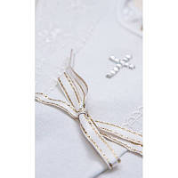 Сорочка крестильная Христина-2 д.р. с шапочкой Интерлок Цвет белый, молочный размер 74-86 Бетис
