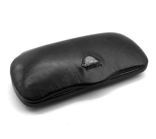 Футляр для очков кожаный черный универсальный 32-2464