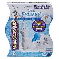 Kinetic Sand Кинетический песок  Снеговик Олаф Disney's Frozen Shimmering Snow Olaf