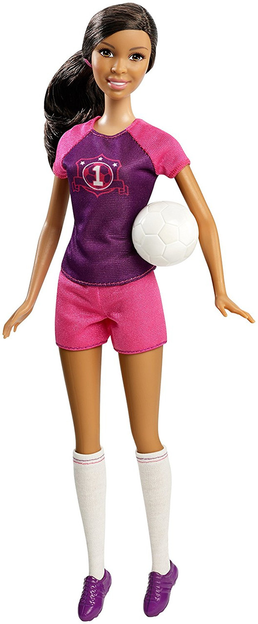 Barbie Барби афро-американка карьера я могу быть Футболисткой Careers Soccer Player African-American Doll