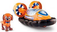 """Зума, Щенячий патруль, спасательный автомобиль с фигуркой, (Zuma""""s Hovercraft, Vechicle and Figure) PAW Patrol"""