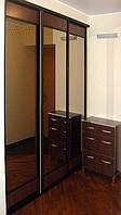 Гардеробная комната с зеркалом бронза