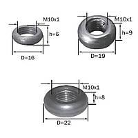 Декоративная гайка-бублик (м-10) (некрашеные)  (кольцо гладкое)