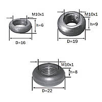 Декоративная гайка-кольцо (м-10) (некрашеное) (Black)  (кольцо гладкое)