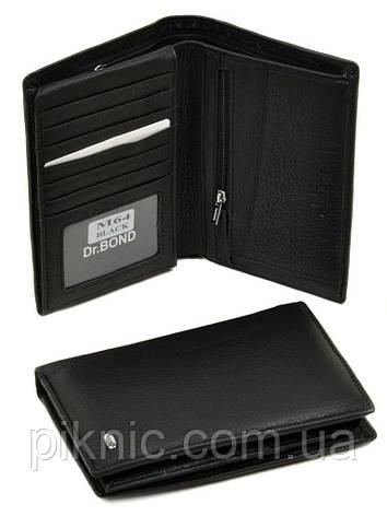 Кожаный мужской клатч, кошелек, портмоне Dr Bond под визитки. (натуральная кожа), фото 2