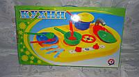 Детская кухня плита с посудкой 25пред. в коробке 51*31*7,5см,Технок.Детская игровая кухня  с посудой в подароч