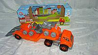 """Большая детская машина """"Автовоз з Будмайданчиком"""",650*240*210мм в подарочной коробке,Технок.Игровой набор маши"""