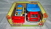 """Набор детских машин """"Стройтехника"""",402*346*187мм в подарочной коробке,Технок.Игровой набор машинок для мальчик"""