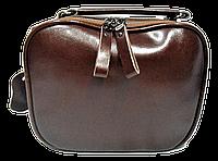 Сумка женская на плечо коричневого цвета кожаная FDG-878764