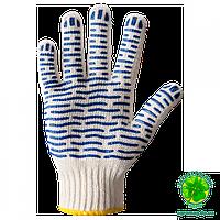 """Перчатки рабочие трикотажные с ПВХ рисунком с одной стороны """"Волна"""", арт.621"""