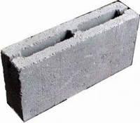 Блок бетонный простеночный 390x120x190 мм (ДНЕПР)