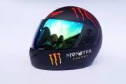 Шлем-интеграл BLD №-825 Monster черный/хамелеон