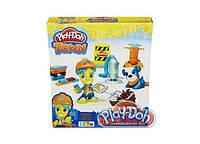 Play-Doh Набор пластилина Город дорожный рабочий и щенок B5972\B3411
