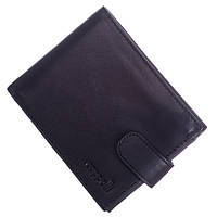 Кожаный мужской кошелек (портмоне) Cappalli черного цвета