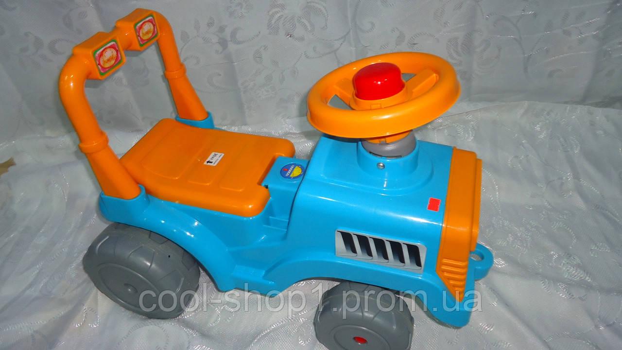 """Машинка-каталка для прогулок """"Беби-Трактор"""" ,гудок,багажник ,610 *420 *310мм,1+, Орион.Машинка-каталка Трактор - Интернет-магазин """"Cool shop"""" в Закарпатской области"""