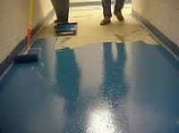 Окраска  полиуретановыми эмалями бетонных покрытий