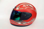 Шлем-интеграл BLD №-829 красный мат / хамелеон