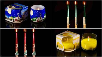 Новенькие новогодние свечи