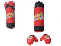 Детский игровой боксерский набор груша, перчатки
