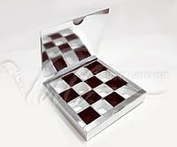 """Подарочная коробка для конфет """"Серебро""""  с ложементом, 185*185*30"""