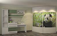 Радіусна шафа-купе в дитячу кімнату
